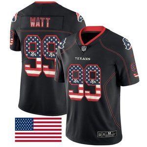 Texans JJ Watt USA Flag Fashion Jersey